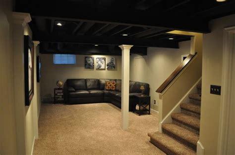 painted joist basement black ceiling more home decor basement ideas