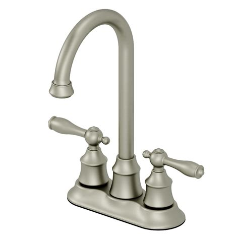 shop aquasource brushed nickel 2 handle bar faucet at lowes