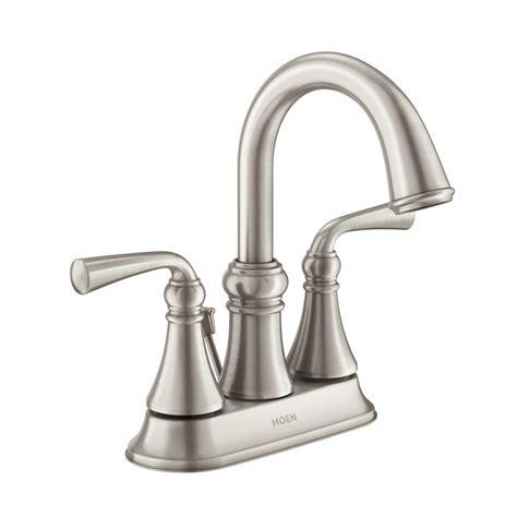 shop moen wetherly spot resist brushed nickel 2 handle 4