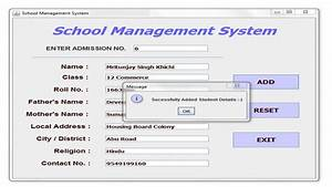 Download Free School Management System Cbse Ip Project For ...