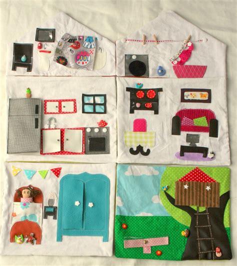 ma maison de poup 233 e en tissu la maison en entier couture pour enfant jeux et bricolages