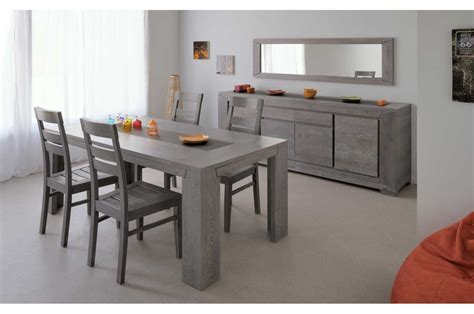 indogate table salle a manger gris clair