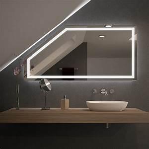 Spiegel Mit Hinterleuchtung : spiegel f r dachschr gen mit led beleuchtung fiola 989707058 ~ Markanthonyermac.com Haus und Dekorationen