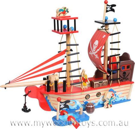 Pirate Boat Toy by Pirate Ship Wooden Toy Role Play Toy At My Wooden Toys