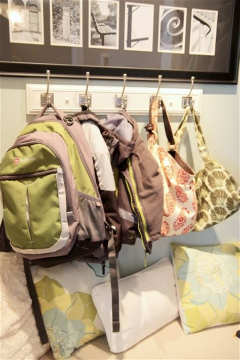 backpack hooks for home being organized during back to school house cleaning