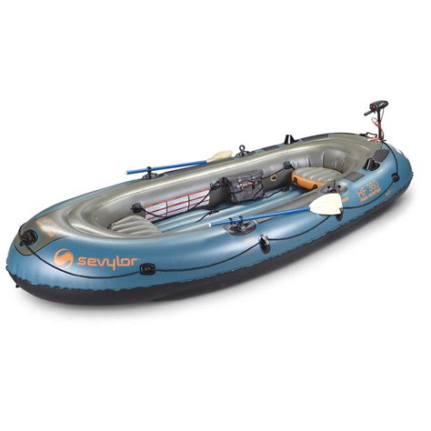 Inflatable Boat With Motor by Sevylor Fish Hunter Inflatable Boat Kit Raft With Motor